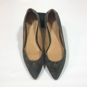 NWT- Joes gray suede flats sz 9.5